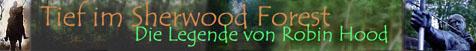 Eine Homepage zu praktisch allem um den englischen Volkshelden Robin Hood